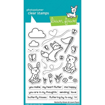 RESERVE Lawn Fawn BUTTERFLY KISSES Clear Stamps LF1882