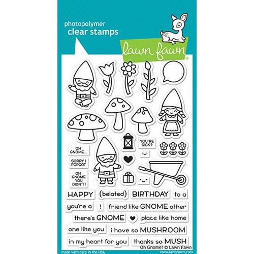 RESERVE Lawn Fawn OH GNOME! Clear Stamps LF1880 Preview Image