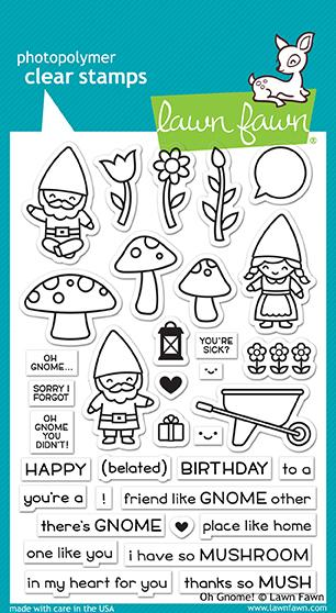 RESERVE Lawn Fawn OH GNOME! Clear Stamps LF1880