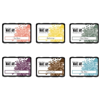 Ranger Wendy Vecchi MAKE ART DYE INK PAD 6 SET ranger119