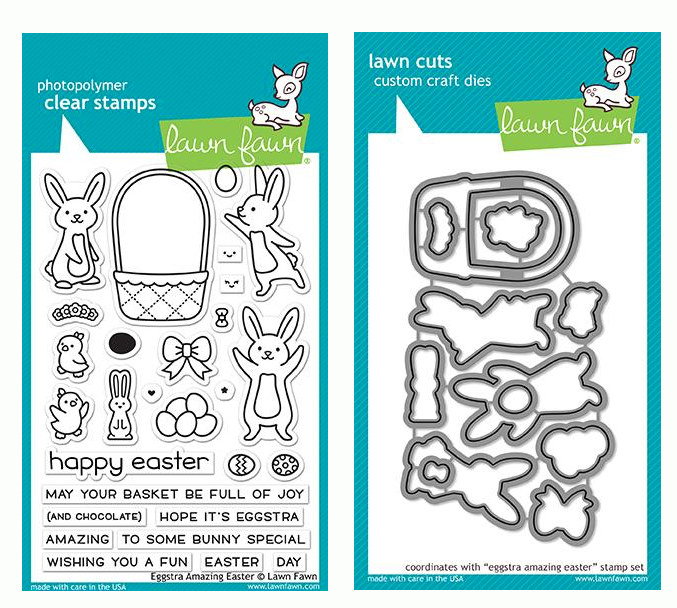 RESERVE Lawn Fawn SET EGGSTRA AMAZING EASTER Clear Stamps and Dies LF19EAG