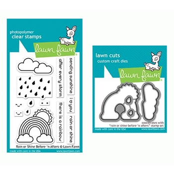 Lawn Fawn SET RAIN OR SHINE BEFORE 'N AFTERS Clear Stamps and Dies LF19ROS