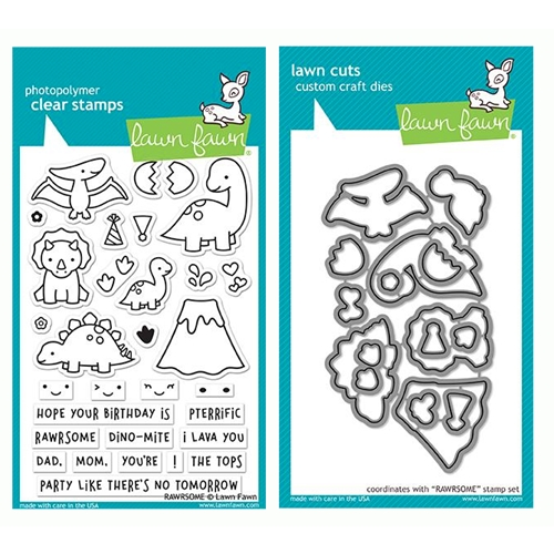 RESERVE Lawn Fawn SET RAWRSOME Clear Stamps and Dies LF19SRM Preview Image