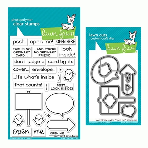 RESERVE Lawn Fawn SET OPEN ME Clear Stamps and Dies LF19OM Preview Image