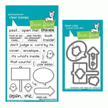 Lawn Fawn SET OPEN ME Clear Stamps and Dies LF19OM
