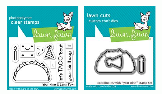 RESERVE Lawn Fawn SET YEAR NINE Clear Stamps and Dies LF19YN