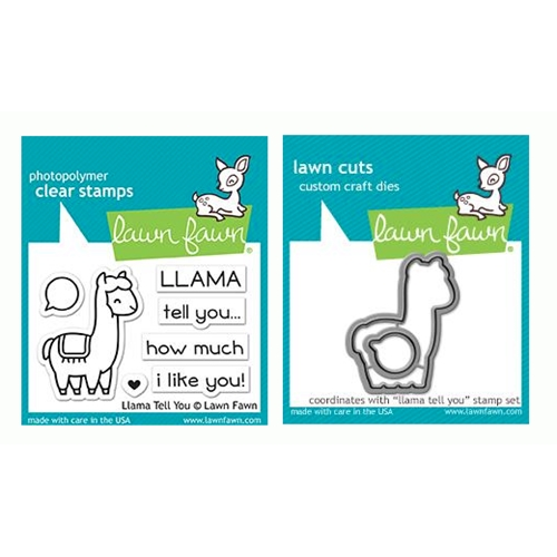 RESERVE Lawn Fawn SET LLAMA TELL YOU Clear Stamps and Dies LF19LTY Preview Image