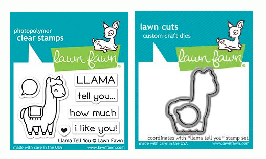 RESERVE Lawn Fawn SET LLAMA TELL YOU Clear Stamps and Dies LF19LTY