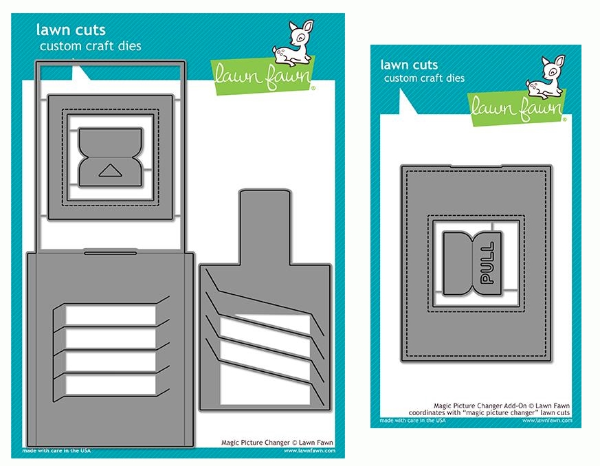 Lawn Fawn SET MAGIC PICTURE CHANGER Die Cuts and Add-On Dies LF19MPC zoom image