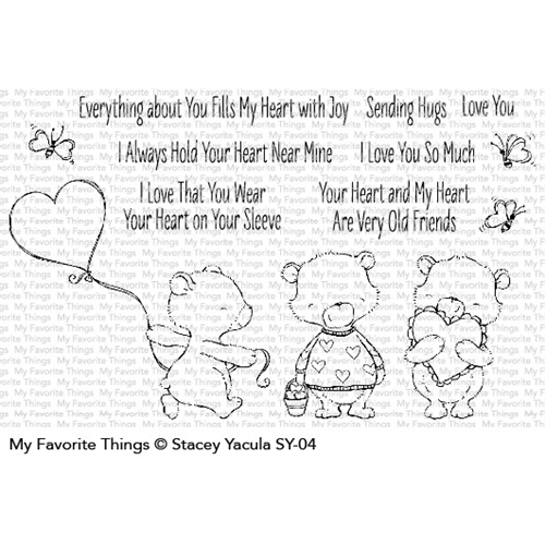 My Favorite Things JOYFUL HEART BEARS Clear Stamps SY04 Preview Image