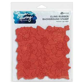 Ranger FLOWER GARDEN Simon Hurley Create Cling Rubber Stamp hur67450