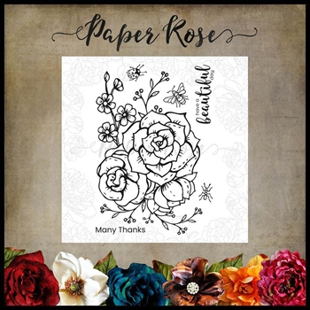 Paper Rose BEAUTIFUL DAY Clear Stamps 17880