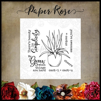 Paper Rose CACTUS QUOTES Clear Stamps 17890