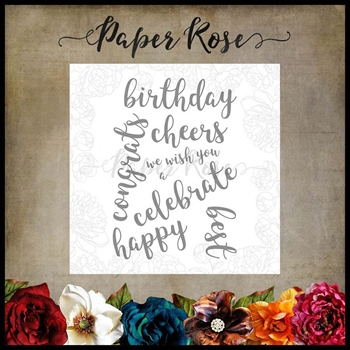 Paper Rose SENTIMENTS 2 Clear Stamps 17904