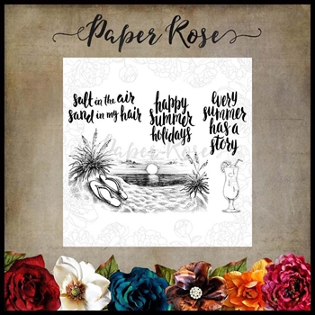 Paper Rose SUNSET ON THE BEACH Clear Stamps 17598