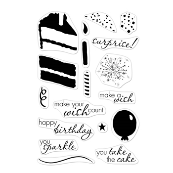 Hero Arts Clear Stamps Color Layering BIRTHDAY CAKE CM323