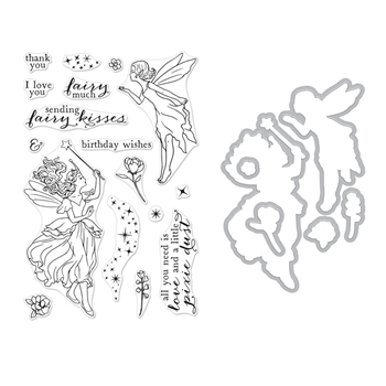 Hero Arts FAIRY KISSES CLEAR STAMP & DIE COMBO SB220