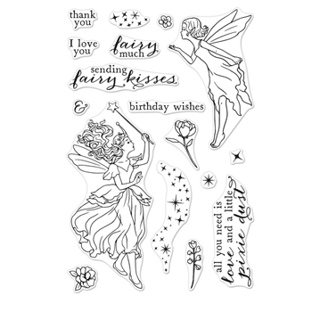 Hero Arts Clear Stamps FAIRY KISSES CM329