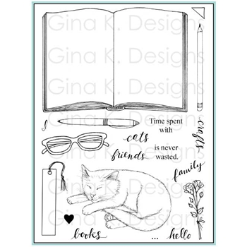 Gina K Designs OPEN BOOK Clear Stamps 2378