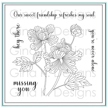 Gina K Designs SWEET FRIENDSHIP Clear Stamps 2781