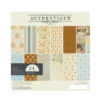 Authentique 6 x 6 ABUNDANT Paper Pad abu008