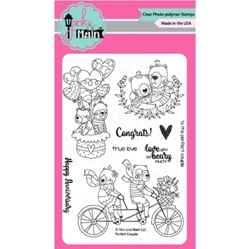 Pink and Main PERFECT COUPLE Clear Stamps PM0319