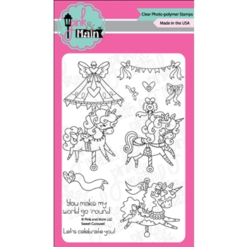 Pink and Main SWEET CAROUSEL Clear Stamps PM0320