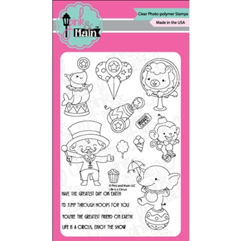 Pink and Main LIFE IS A CIRCUS Clear Stamps PM0317