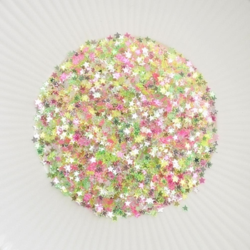 Little Things From Lucy's Cards Itty Bitty Stars NEON BRIGHT Sparkly Shaker Mix LB201