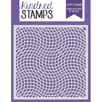 Kindred Stamps OPTICAL ILLUSION Stencil 3116572