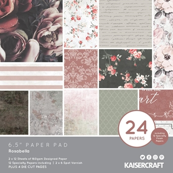 Kaisercraft ROSABELLA 6.5 Inch Paper Pad PP1061