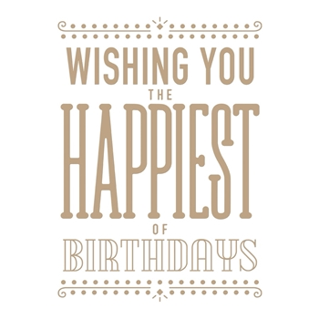 GLP-073 Spellbinders HAPPIEST BIRTHDAY Glimmer Hot Foil Plate