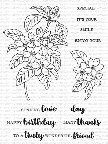 Clearly Besotted BLOSSOM IN BLOOM Clear Stamps zoom image
