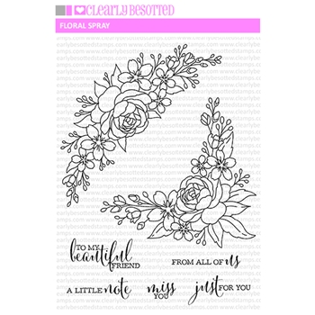 Clearly Besotted FLORAL SPRAY Clear Stamps