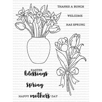 Clearly Besotted SPRING BOUQUET Clear Stamps