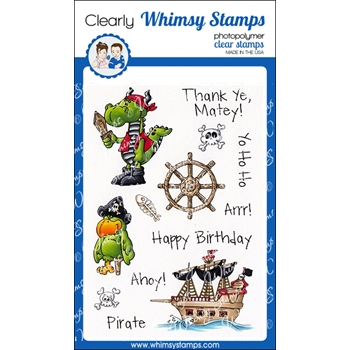 Whimsy Stamps ARRGG PIRATES Clear Stamps DP1003
