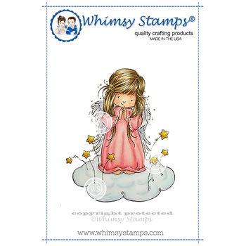 Whimsy Stamps ANGEL NEVAEH Rubber Cling Stamp MF129