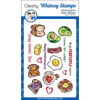 Whimsy Stamps WE GO PERFECTLY Clear Stamps KHB130
