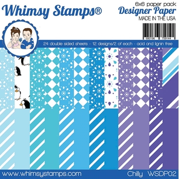 Whimsy Stamps CHILLY 6 x 6 Paper Pads WSDP02