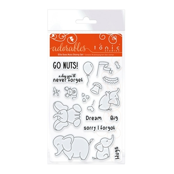 Tonic ELLIE GOES NUTS Adorables Clear Stamp Set 2578e