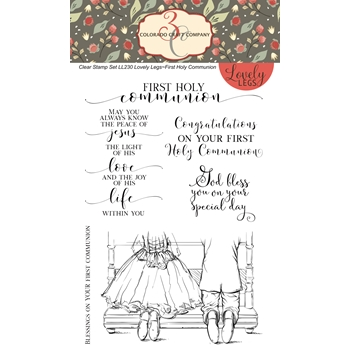 Colorado Craft Company FIRST COMMUNION Clear Stamps LL230