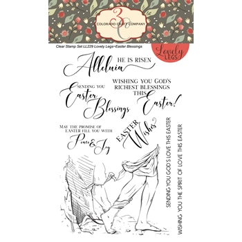 Colorado Craft Company EASTER BLESSINGS Clear Stamps LL229