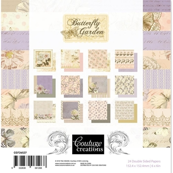 Couture Creations BUTTERFLY GARDEN 6 x 6 Paper Pad co726527