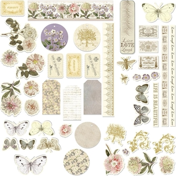 Couture Creations BUTTERFLY GARDEN Ephemera co726540