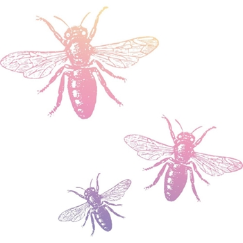 Couture Creations MINI BUZZING BEES Clear Stamp Butterfly Garden co726557