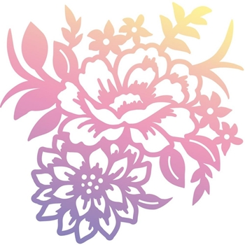 Couture Creations MINI ROSE BOUQUET Clear Stamp Butterfly Garden co726560