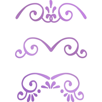 Couture Creations MINI BORDERS Hotfoil Stamp Butterfly Garden co726563