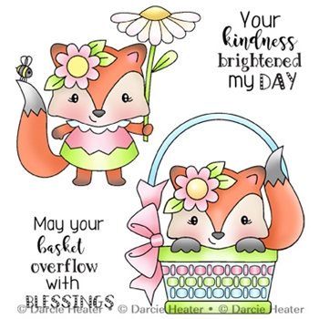 Darcie's SPRING FOX Clear Stamp Set pol423