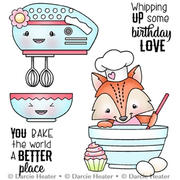 Darcie's BAKE THE WORLD Clear Stamp Set pol426