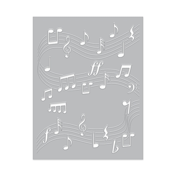 Hero Arts Confetti Die DANCING MUSIC NOTES DI621